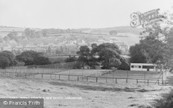 Lanchester, Tennis Courts And New Estate c.1955
