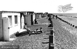 Lancing, Golden Sands Beach Bungalows c.1955