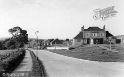 Lancing, Steepdown Road c.1955