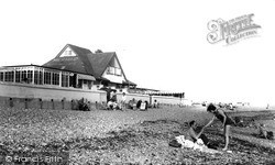 Lancing, The Beach And Mermaid Cafe c.1960