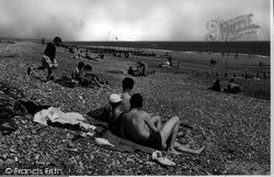 Lancing, The Beach c.1955
