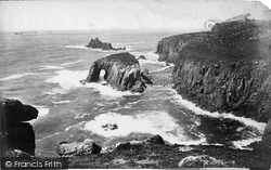 Land's End, Armed Knights And Enys Dodnan c.1875