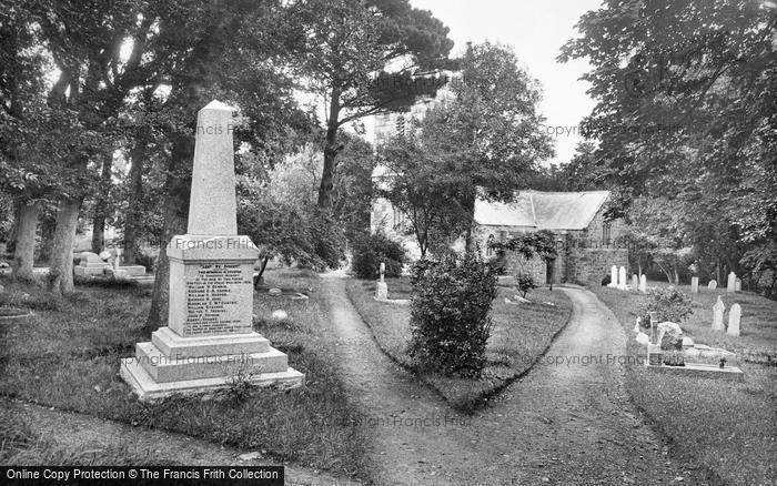 Photo of Landewednack, Church And War Memorial 1927