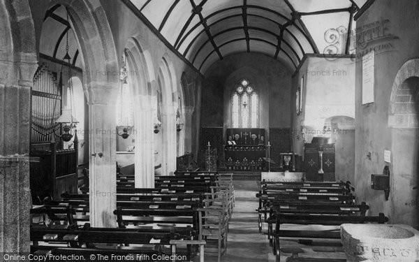 Photo of Landewednack, Church Interior 1895