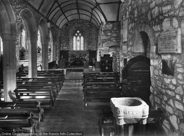 Photo of Landewednack, Church Interior 1927