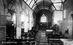 Landewednack, Church Interior c.1883
