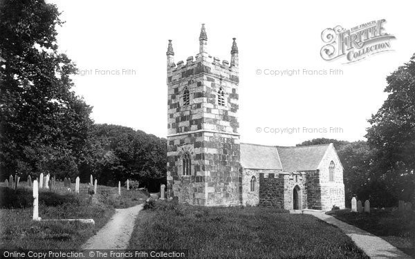 Photo of Landewednack, St Wynwallow's Church 1895