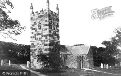 St Wynwallow's Church c.1883, Landewednack