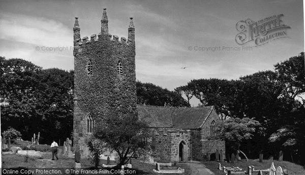 Photo of Landewednack, St Wynwallow's Church c.1955