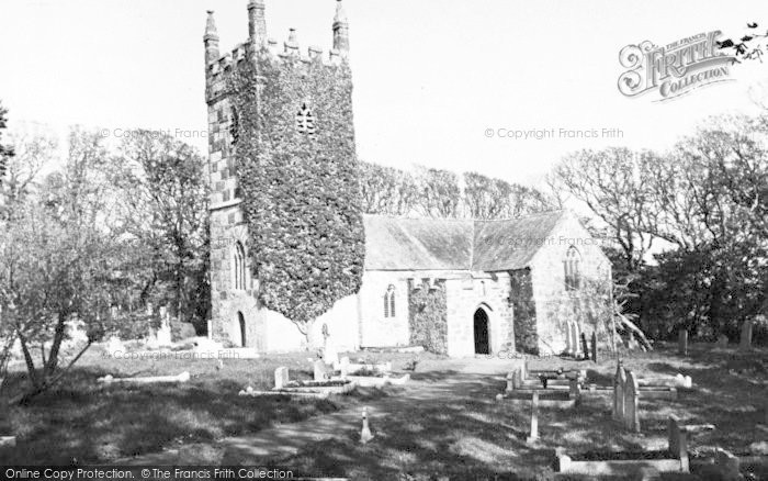 Photo of Landewednack, St Wynwallow's Church c.1960