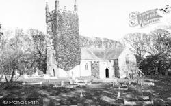 St Wynwallow's Church c.1960, Landewednack