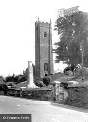 Landrake, St Michael's Church And War Memorial c.1960