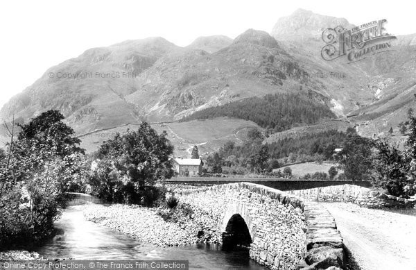 Photo of Langdale Pikes, Bridge And Hotel 1892
