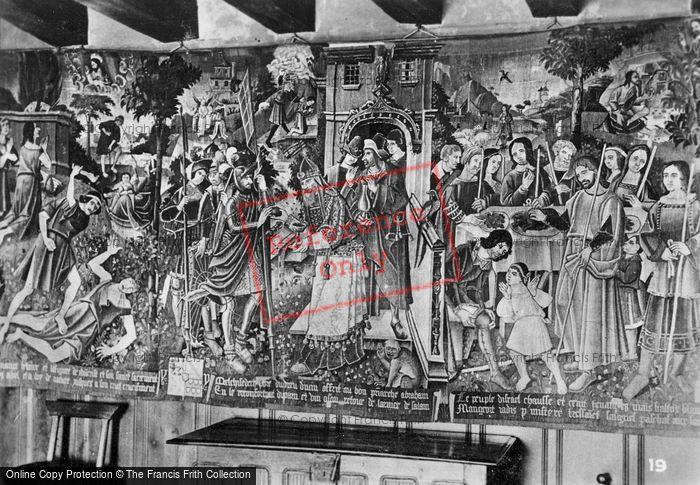 Photo of Langeais, Chateau De Langeais, Tapestry c.1935