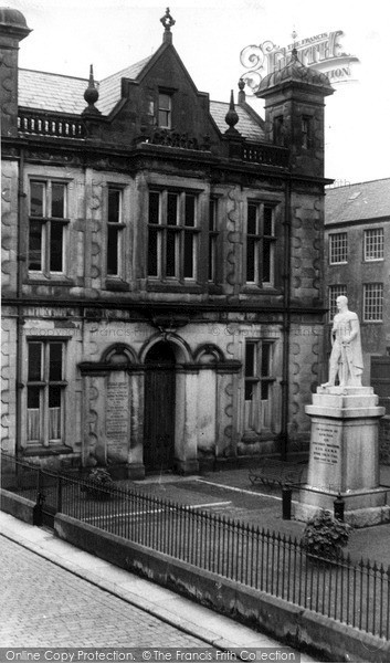 Photo of Langholm, Library And Malcolm Memorial c.1955