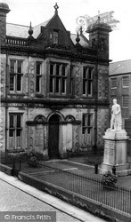 Langholm, Library And Malcolm Memorial c.1955