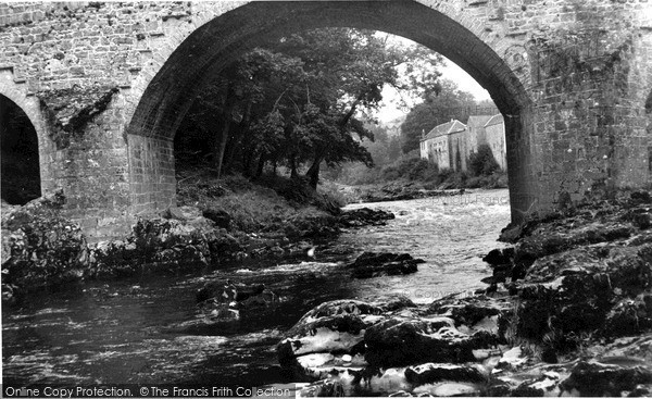 Photo of Langholm, River Esk c.1955