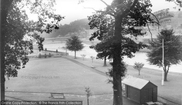 Photo of Langholm, The Park And River Esk c.1955