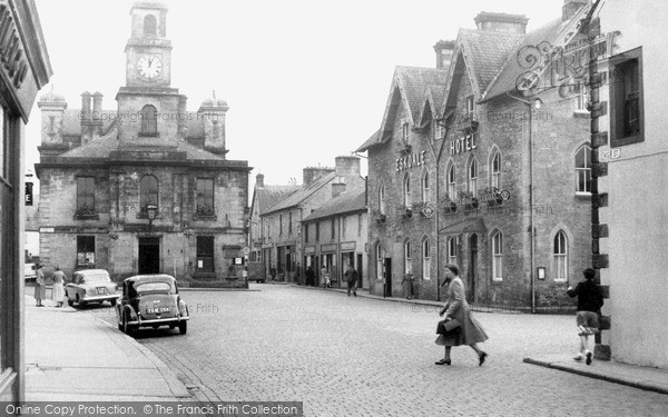 Photo of Langholm, Town Hall And Eskdale Hotel c.1955