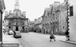 Langholm, Town Hall And Eskdale Hotel c.1955