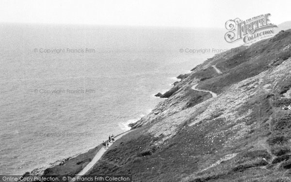 Photo of Langland, Bay, Cliff Walk c.1955