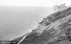 Langland, Bay, Cliff Walk c.1955
