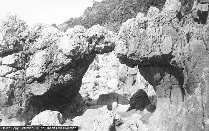 Photo of Langland, Bay, Natural Arch 1893