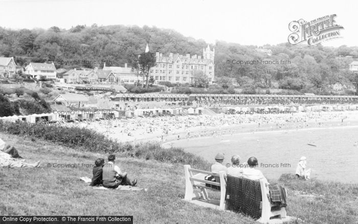 Photo of Langland, Bay, Newton c.1955