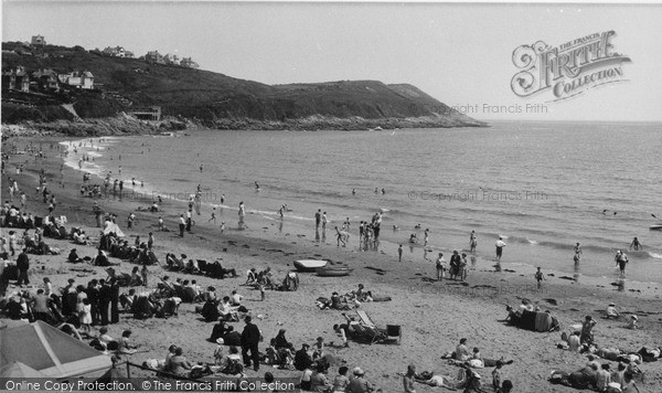 Photo of Langland, Bay, The Beach c.1955