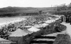 Langland, Bay, The Beach c.1955