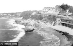 Langland, Rotherslade Bay c.1955