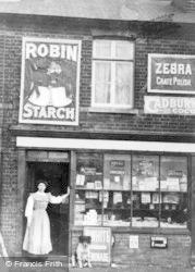 Langley, High Street Shop c.1890