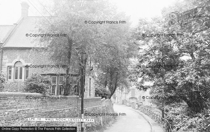 Photo of Langley Park, Wall Nook c.1955