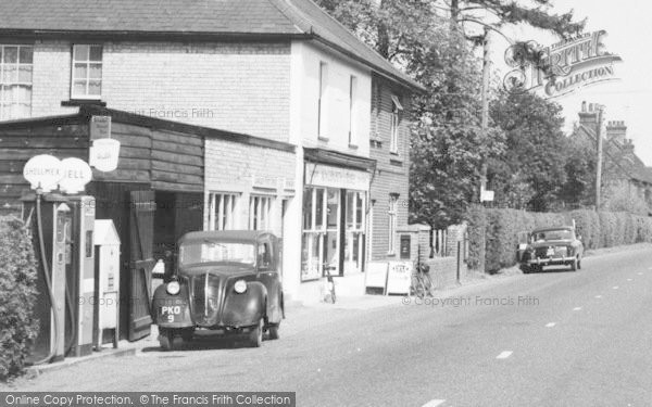 Photo of Langley, The Post Office And Petrol Pumps c.1960