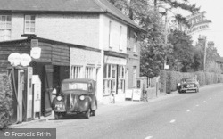 Langley, The Post Office And Petrol Pumps c.1960