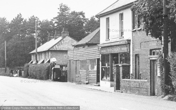 Photo of Langley, The Post Office And Petrol Sation c.1950