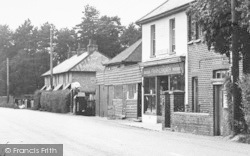 Langley, The Post Office And Petrol Sation c.1950