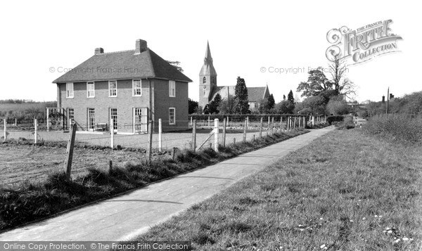 Photo of Langley, The Rectory And The Church c.1960