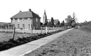 Langley, the Rectory and the Church c1960