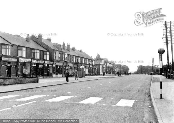 Photo of Langold, Doncaster Road c1955