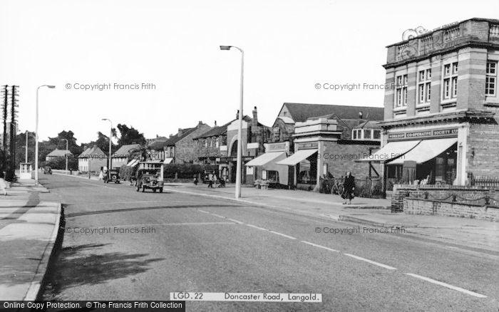 Photo of Langold, Doncaster Road c.1955