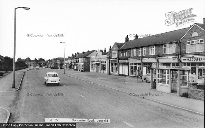 Photo of Langold, Doncaster Road c.1960