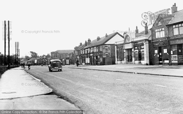 Photo of Langold, Doncaster Road Shopping Centre c.1955