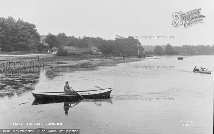 Photo of Langold, The Lake c.1955