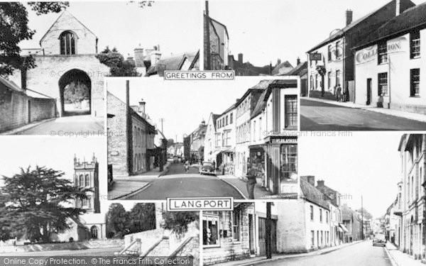 Photo of Langport, Composite c.1955