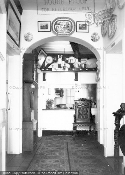 Photo of Langport, Entrance Hall And Reception, Langport Arms Hotel c.1965