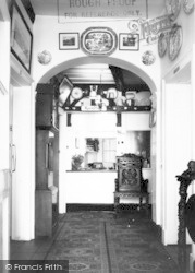 Langport, Entrance Hall And Reception, Langport Arms Hotel c.1965