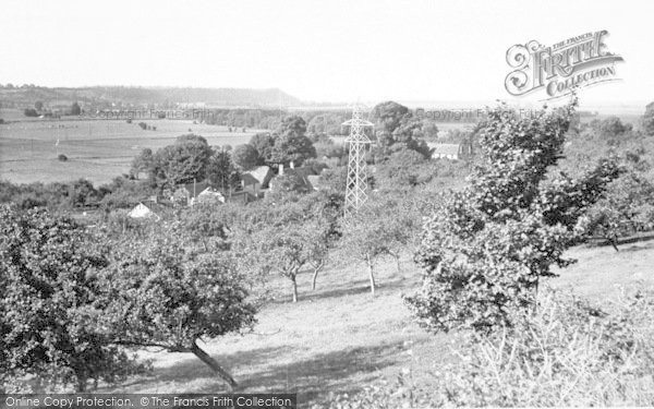 Photo of Langport, From White Hill c.1955