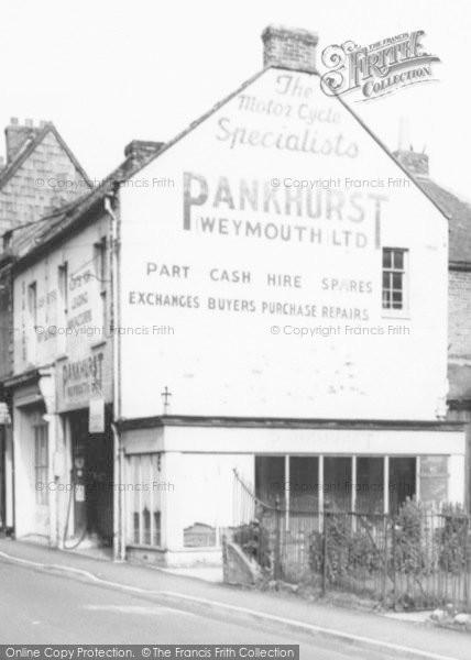 Photo of Langport, Motorcycle Shop c.1965