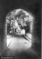 Langport, View Through The Hanging Chapel c.1960